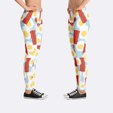 Women's Bacon and Eggs Leggings Sides