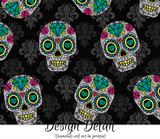 Floral Sugar Skull Leggings