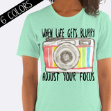 Adjust Your Focus Camera Shirt in Green