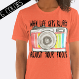 Adjust Your Focus Camera Shirt in Orange