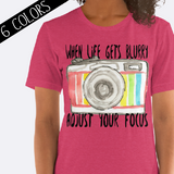 Adjust Your Focus Camera Shirt in Pink
