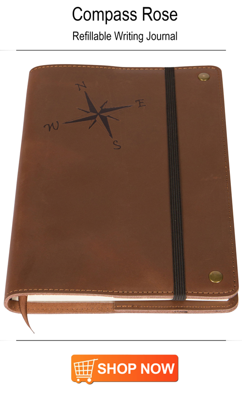 The Amazing Office - Compass Rose Refillable Writing Journal