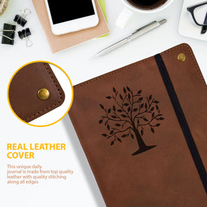 The Tree Of Life Real Leather Refillable Writing Journal