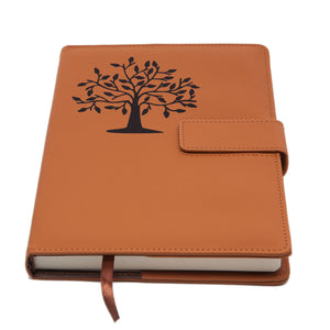 The Tree Of Life Refillable Writing Journal - Brown