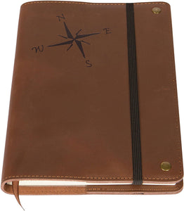 March Madness - Compass Rose Leather Refillable Writing Journal