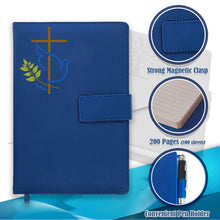 The Peace Dove Cross Refillable Writing Journal - Blue