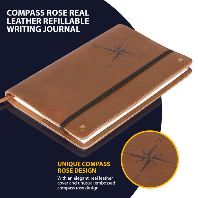 Leather Refillable Writing Journal - The Amazing Office