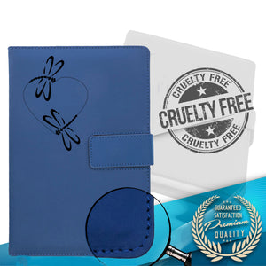 The Dragonfly Heart Refillable Writing Journal - Blue