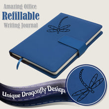 Dragonfly Refillable Writing Journal - Blue