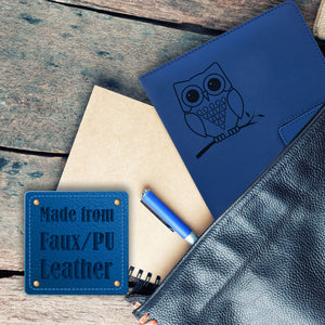 Owl Refillable Writing Journal - Blue