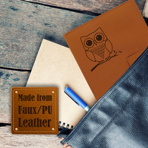 Owl Refillable Writing Journal - Brown
