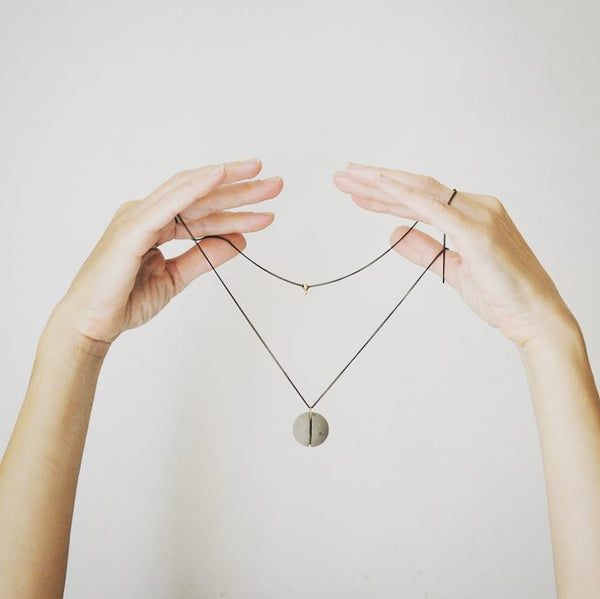 Concrete Sphere Necklace