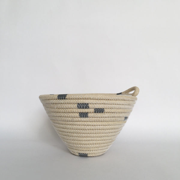 Medium grey striped basket