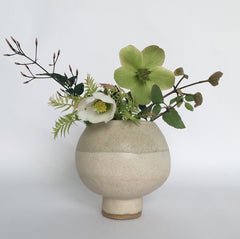 Small natural pot bellied vase