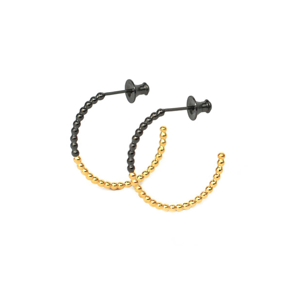 Small Hoops - Gold & Rhodium