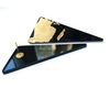 Black and Gold Triangle Statement Earrings