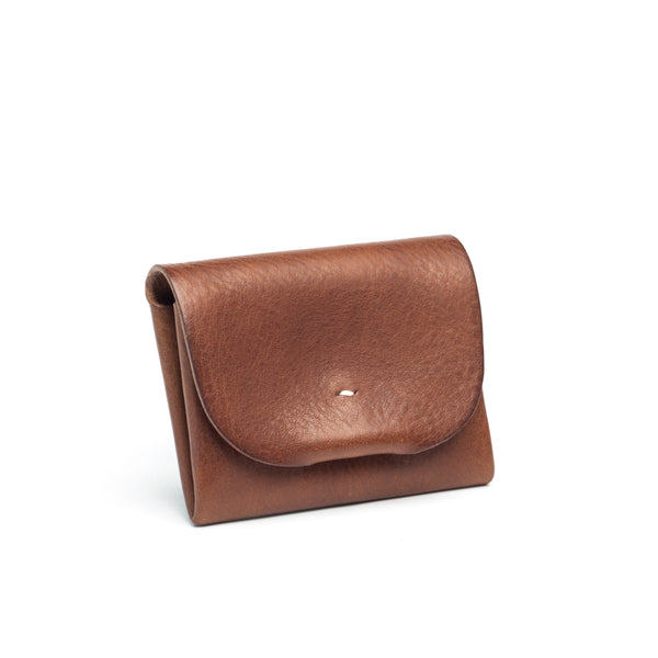 Origami leather wallet - Tan