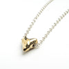 Brass polished heart necklace