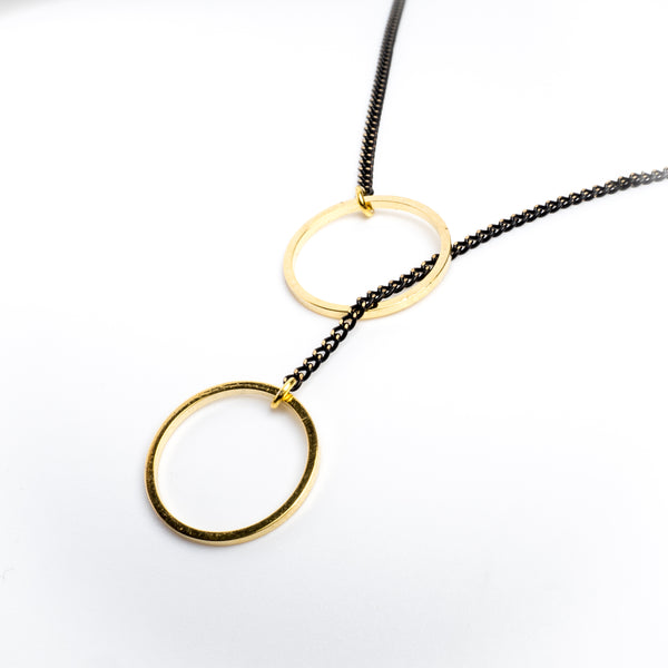 Circles Brass Necklace