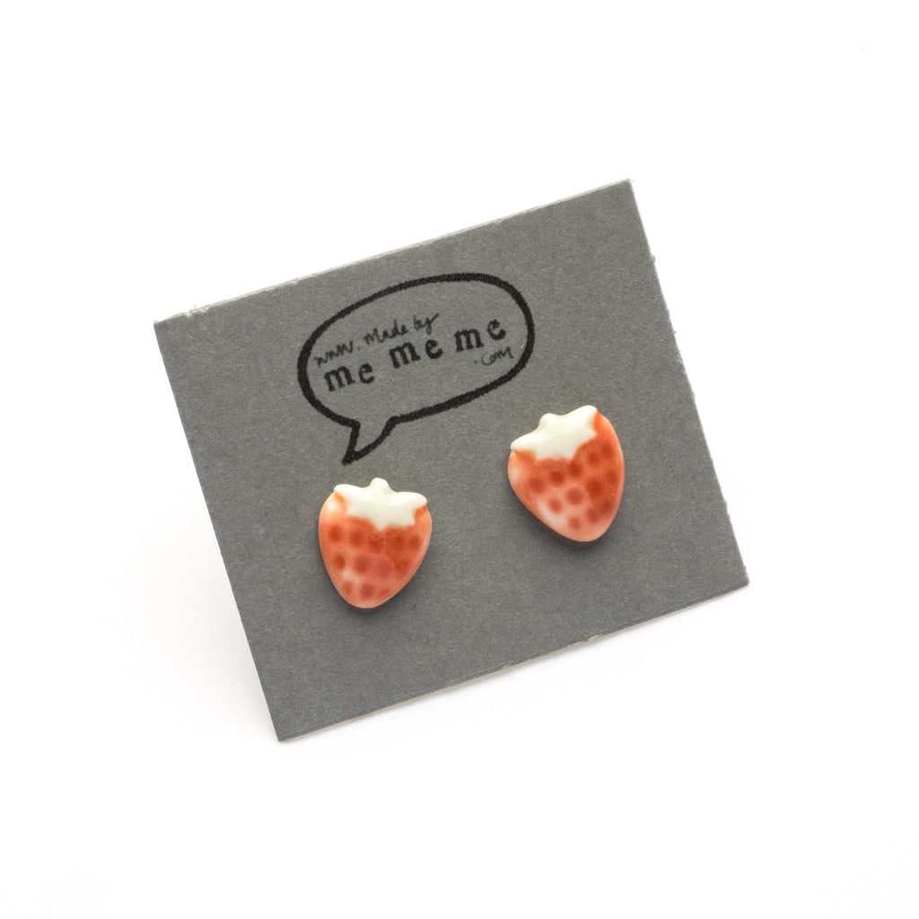 cute polymer stud clay fullxfull c earrings il strawberry