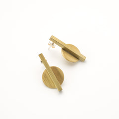 Straight Circle earrings
