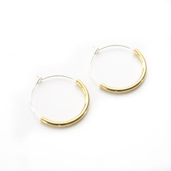 Brass & Silver Hoop Earrings