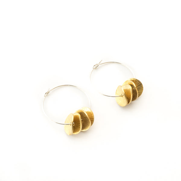 Brass Bead Earrings