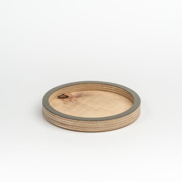 Circle Desk Tidy/Coaster - Grey