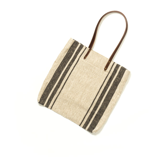 Linen Tote Bag - Three Stripe