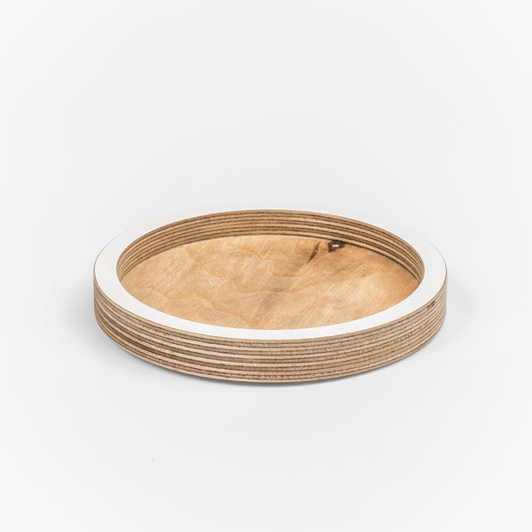 Circle Desk Tidy/Coaster - White