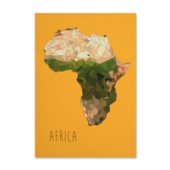 Africa Continent Print