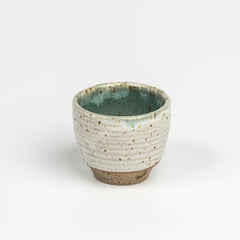 Green speckle teacup
