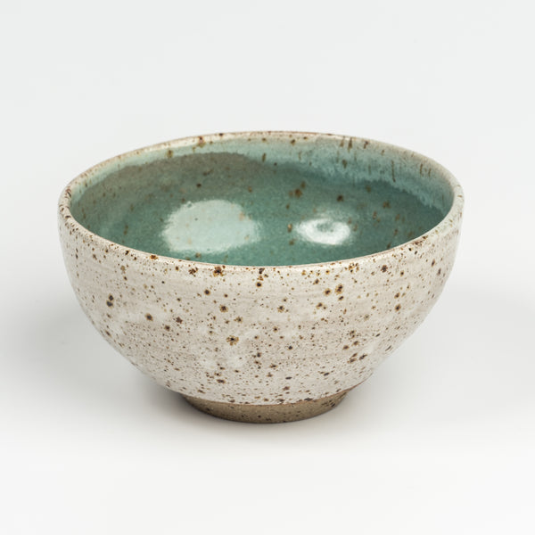 Green speckle bowl