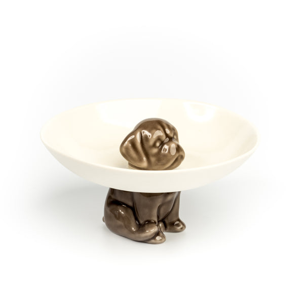 Dog Porcelain Trinket Dish