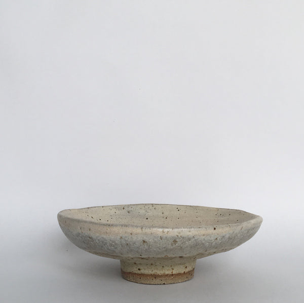 Wide stoneware bowl