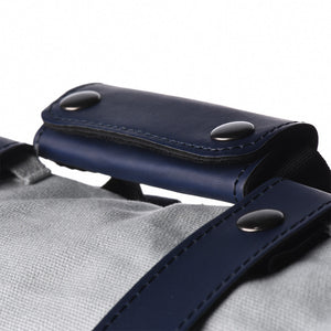 Blue Leather Straps + Handle set