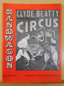 Bandwagon 1975 May June Circus Magazine Miller Bros 1927-1931 Ricketts' Circus R