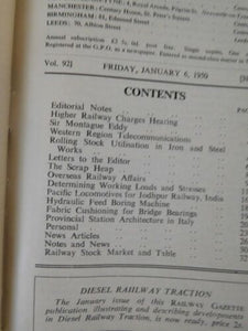 Railway Gazette Bound volume 92 January 6 to June 30, 1950