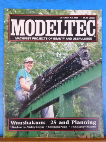 Modeltec 1995 October Magazine Waushakum Ultra low Cal Stirling engine 1906 Stan