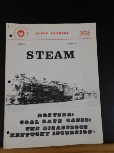 Monon Railroad 1975 Summer Issue #2 News & Notes Steam Rosters
