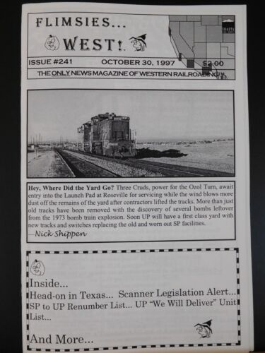 Flimsies West Issue #241 October 30, 1997 News Magazine of Western Railroading
