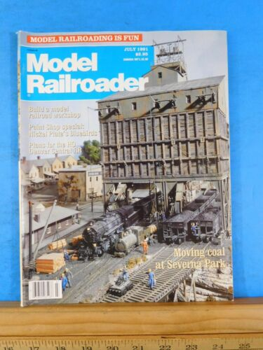 Model Railroader Magazine 1991 July NKP Bluebirds Build model RR workshop Plans