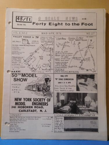 O Scale News #27 1976 March April Forty Eight to the Foot 50th Model Show
