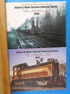 B&M Bulletin Calendar Lot of 7 2002 2002- 2009 Boston & Maine RR Historical Soc