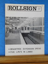 Rollsign Magazine of New England Transit News 1980 March April