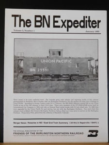 BN Expediter 1995 January East End Snowplow activity BN+SF merger