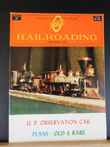 O Scale Railroading #41 December 1975 UP observation car Plans Old & Rare