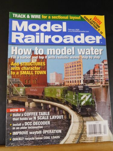 Model Railroader Magazine 2009 February Model water Add structures with characte