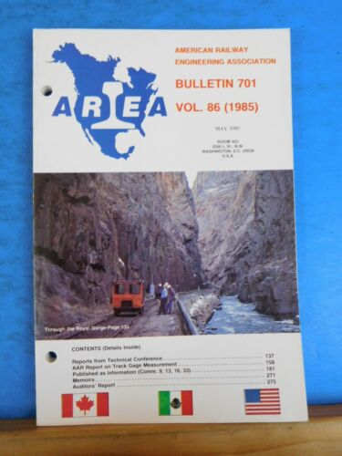 American Railway Engineering Association Bulletin 701 May 1985 Vol 86