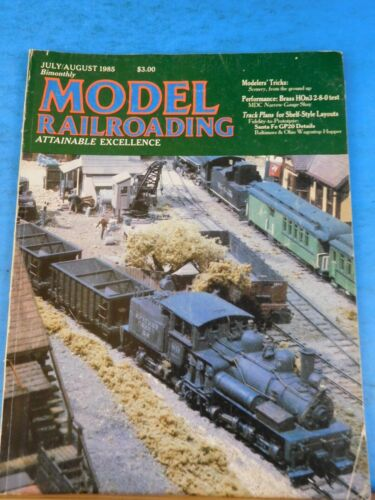 Model Railroading 1985 July August Freight cars Drainage ditches Rocks Embankmen